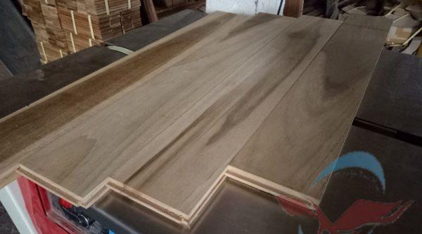 harga lantai Flooring kayu Jati Grade Putih 3