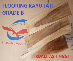 HARGA flooring kayu jati grade B
