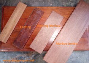 Jenis lantai kayu parquet Merbau
