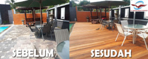 lantai kayu rumah pasha ungu Bogor sebelum sesudah 2