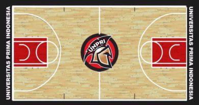 pemasangan lantai kayu lapangan basket