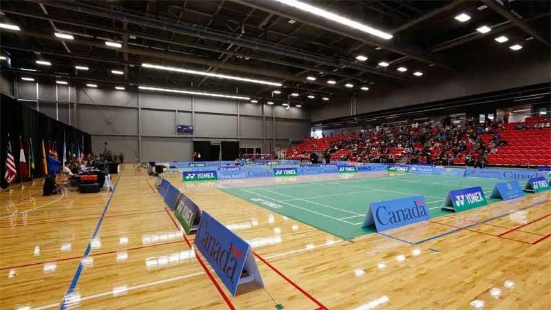 lapangan indoor badminton