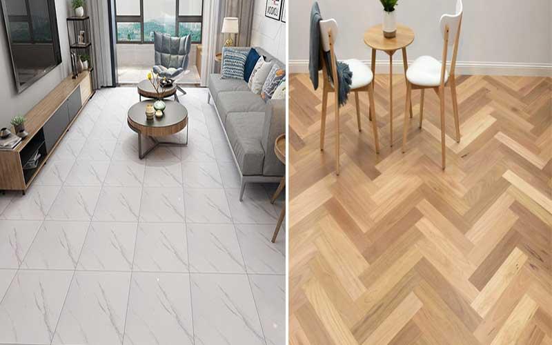 menilai perbandingan lantai keramik dan lantai kayu