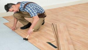 jual lantai kayu tempel