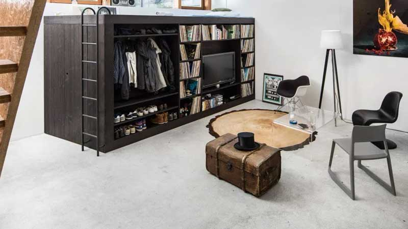 agar rumah terkesan minimalis gunakan furniture multifungsi modern