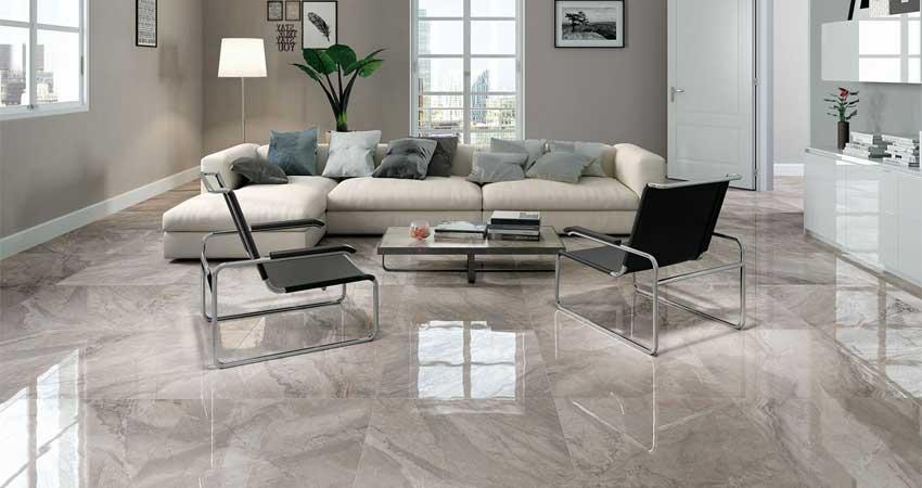 pelapis lantai marmer sering dipakai pada hunian desain rumah mewah modern